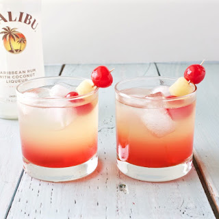 Malibu Sunset Cocktail.