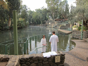 Photo: Baptism in the Jordan