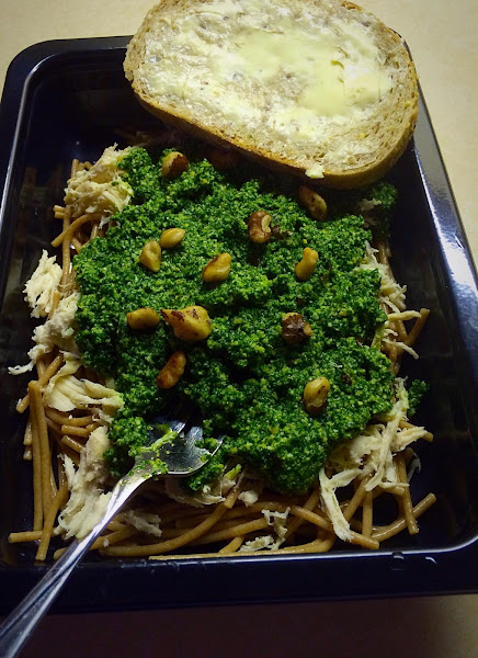 Chicken With Kale & Spinach Pesto With Toasted Walnuts Recipe