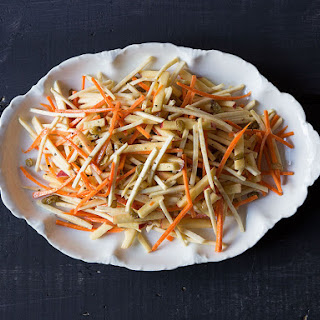 Apple, Celery Root, and Carrot Salad.