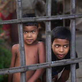 Behind the fence by Kamal Mallick - Babies & Children Children Candids