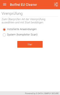 Botfrei EU Cleaner – Miniaturansicht des Screenshots