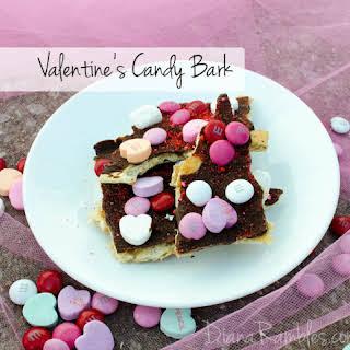 Valentine's Candy Chocolate Toffee Bark.
