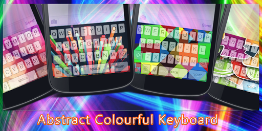 Abstract Colourful Keyboard