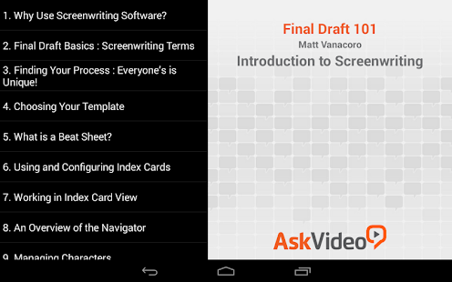 Screenwriting in Final Draft – Apps on Google Play