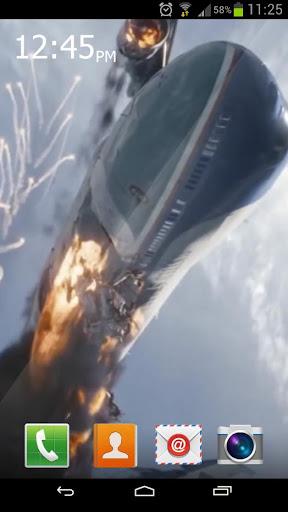Plane crash Live Wallpaper