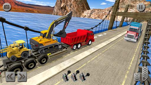 Sand Excavator Truck Driving Rescue Simulator game 5.0 screenshots 2