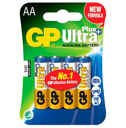 Batteri GP Ultra Plus AA 4/fp