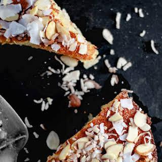 Almond Coconut Semolina Cake.