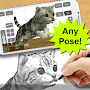 Draw Cats 3D Free APK icon