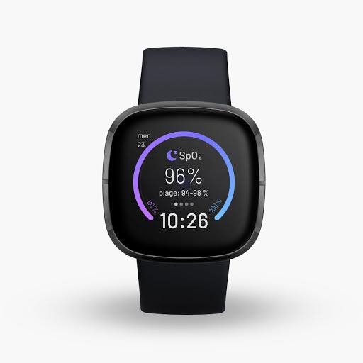 Fitbit Sense en carbone et acier inoxydable graphite