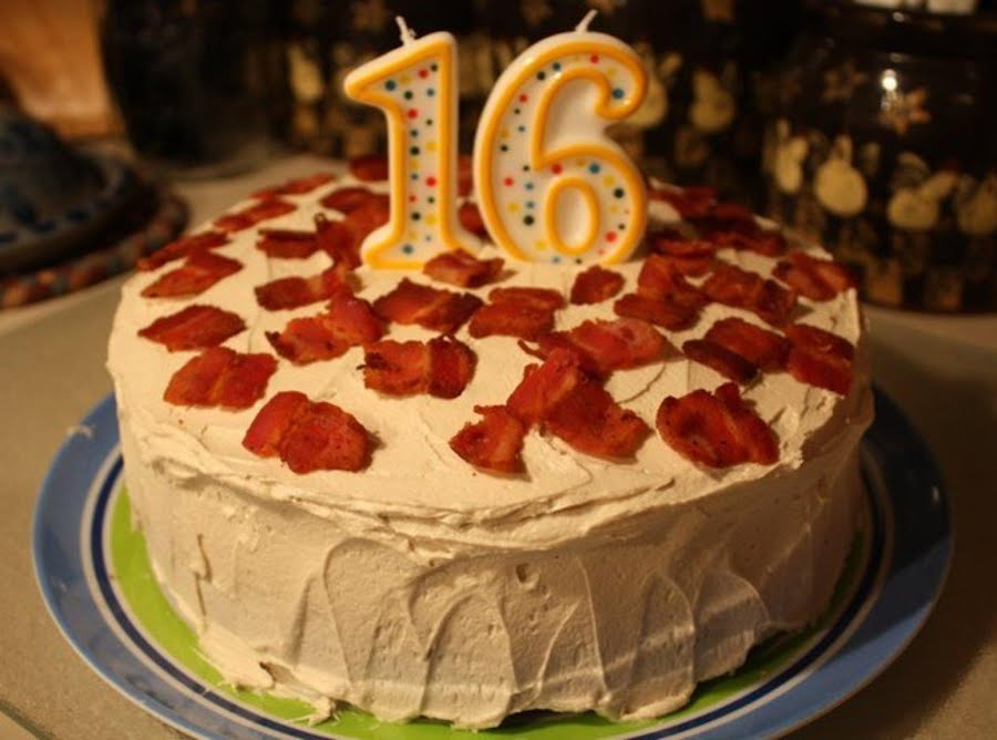 Awesome Maple Bacon Cake Just A Pinch Recipes Funny Birthday Cards Online Aboleapandamsfinfo