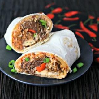 Cheesy Beef Burrito.