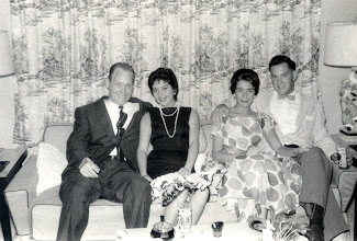 Photo: Patrick A. Tillery and Mrs Sylvia Alma Granada Tillery with friends 1957