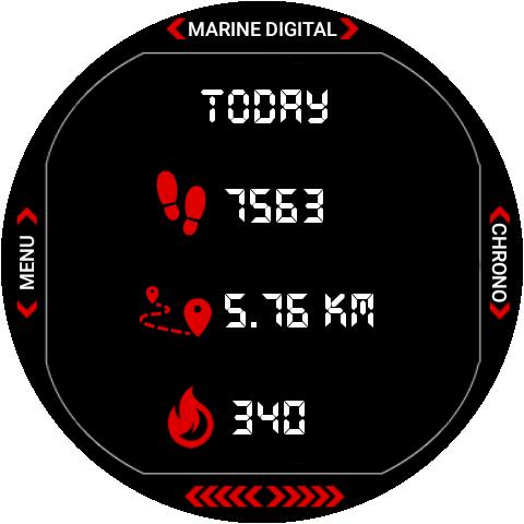 Marine Digital 2 Watch Face & Clock Live Wallpaper 1.07 screenshots 18