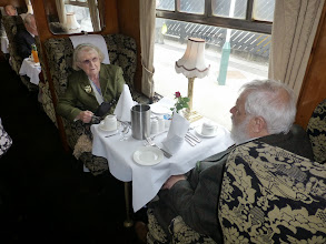 Photo: June and Robert Brown anticipating dinner