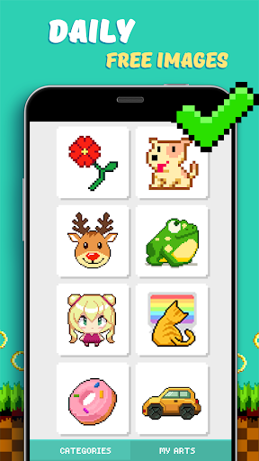 Pixel Coloring Book Game 1.0.6 screenshots 2