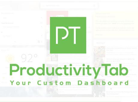 ProductivityTab — Custom Homepage Dashboard