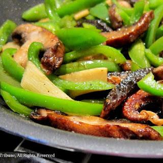 Meatless Chinese Pepper Steak