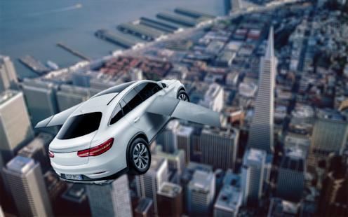 City Turbo Flying Car 3D Plane - náhled