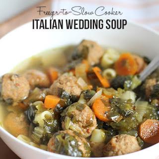 Freezer-to-Slow Cooker Italian Wedding Soup.
