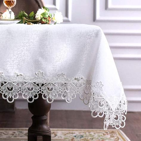 amazon white tablecloth