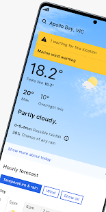 BOM Weather Screenshot