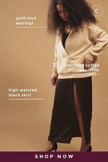 Shop Now Sweatshirt Skirt - Video Template