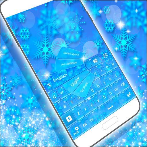 个人化のキーボードの冬のテーマをGO LOGO-記事Game