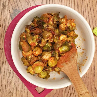 Hot Sauce Roasted Brussel Sprouts