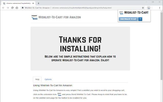 Wishlist-To-Cart for Amazon