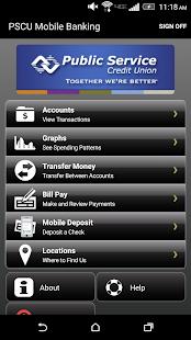 Public Service Credit Union- screenshot thumbnail