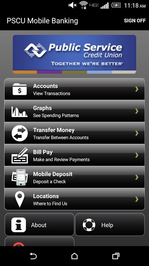Public Service Credit Union- screenshot