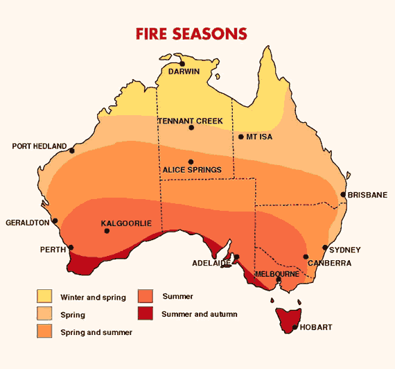 Australia's bushfire seasons - Social Media Blog - Bureau ...