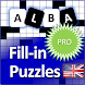 Fill it ins crosswords PRO- Fill ins word puzzles