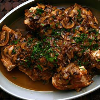 Chicken and Mushroom Marsala.