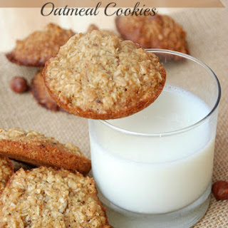Honey Hazelnut Oatmeal Cookies
