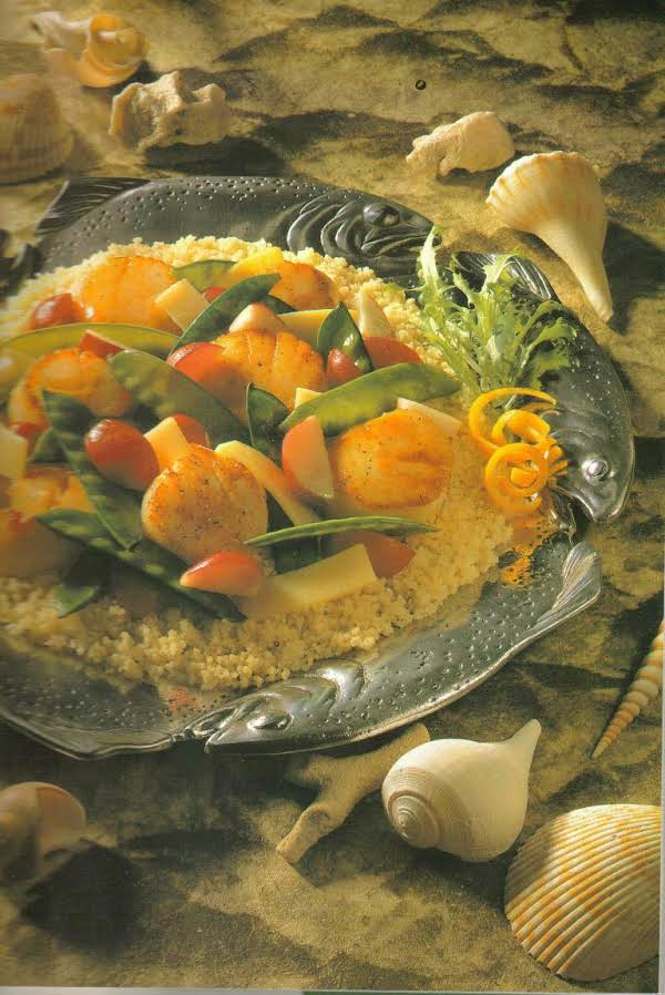 Stir Fried Scallops With Vegetables Recipe