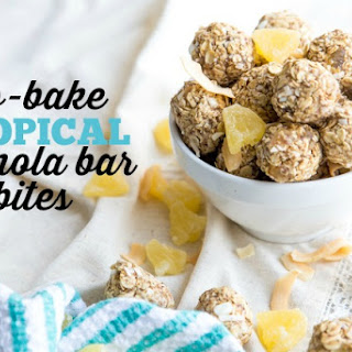 No-Bake Tropical Granola Bar Bites