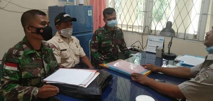 Guna Mengamankan Aset TNI AD, Zidam Jalin Komsos Dengan BPN Bengkayang