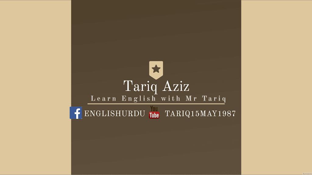 Learn English With tariq