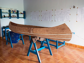 Photo: the faired and sanded hull