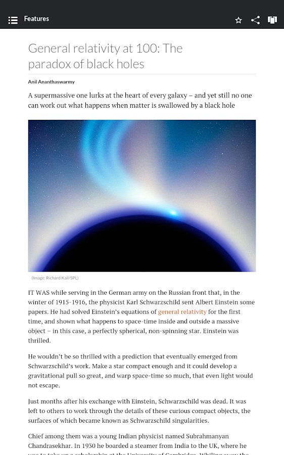 New Scientist- screenshot