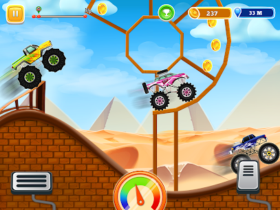 Kids Monster Truck Uphill Racing Game 0.5 Android APK Mod 1