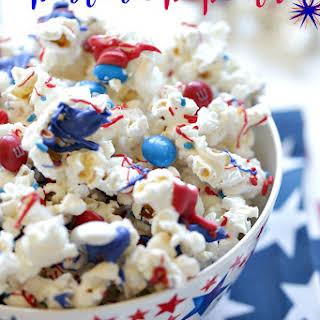 Patriotic White Chocolate Popcorn.