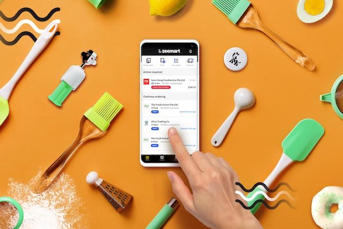 Zeemart app on smartphone