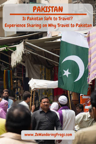 Is Pakistan Safe to Travel? Experience Sharing on Why Travel to Pakistan // Flag in the street of Lahore