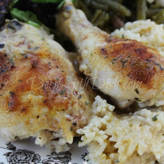 Old School Baked Chicken and Rice.