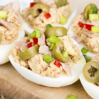 6-Ingredient Tuna Salad Stuffed Eggs.