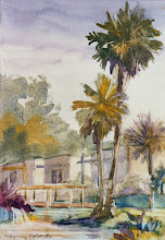 Photo: Paradise Point, watercolor by Nancy Roberts, copyright 2014. Private collection.